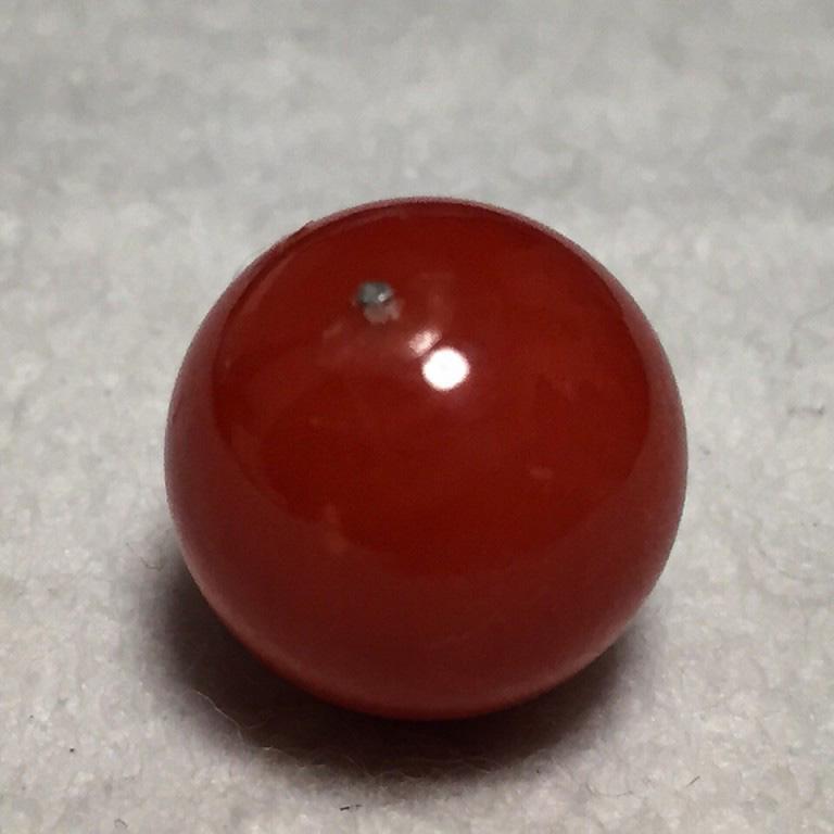 血赤本珊瑚 丸玉 10.1ct