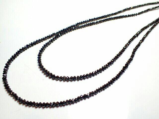 ブラックダイヤモンド ネックレス 6.0g