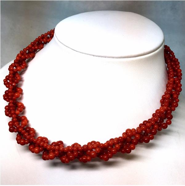 天然本珊瑚ネックレス