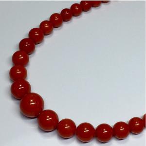 天然血赤本珊瑚ネックレス 15.2g