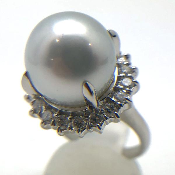 南洋黒蝶真珠パールリング14㎜