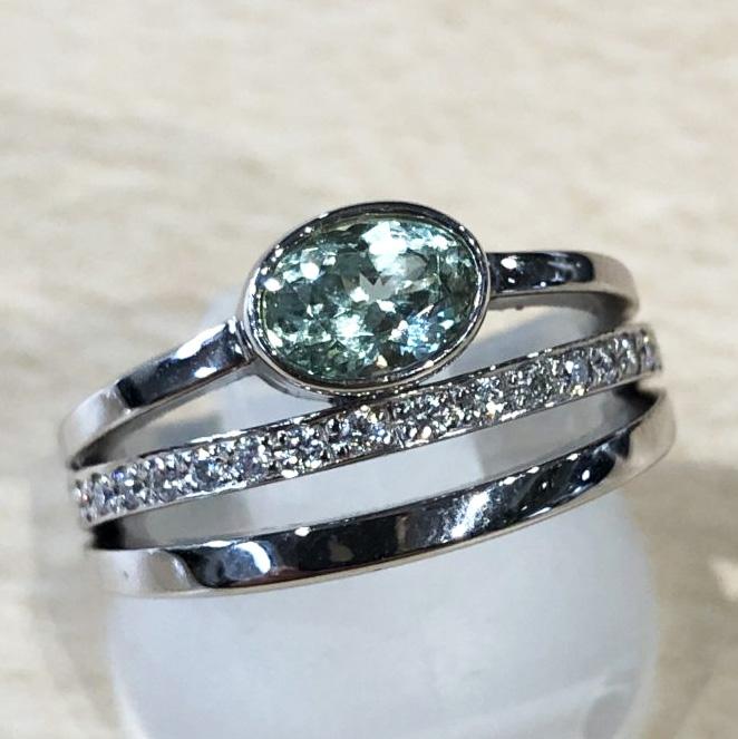 グロッシュラライトガーネット0.78ctの指輪