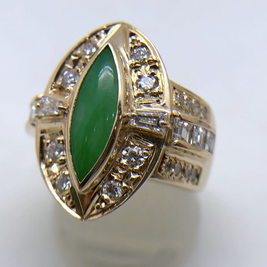 翡翠の指輪0.506ct
