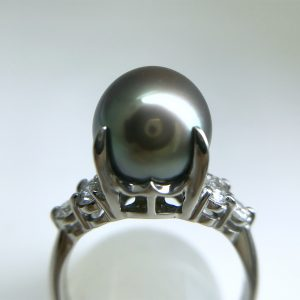 黒蝶真珠リング10.3mm