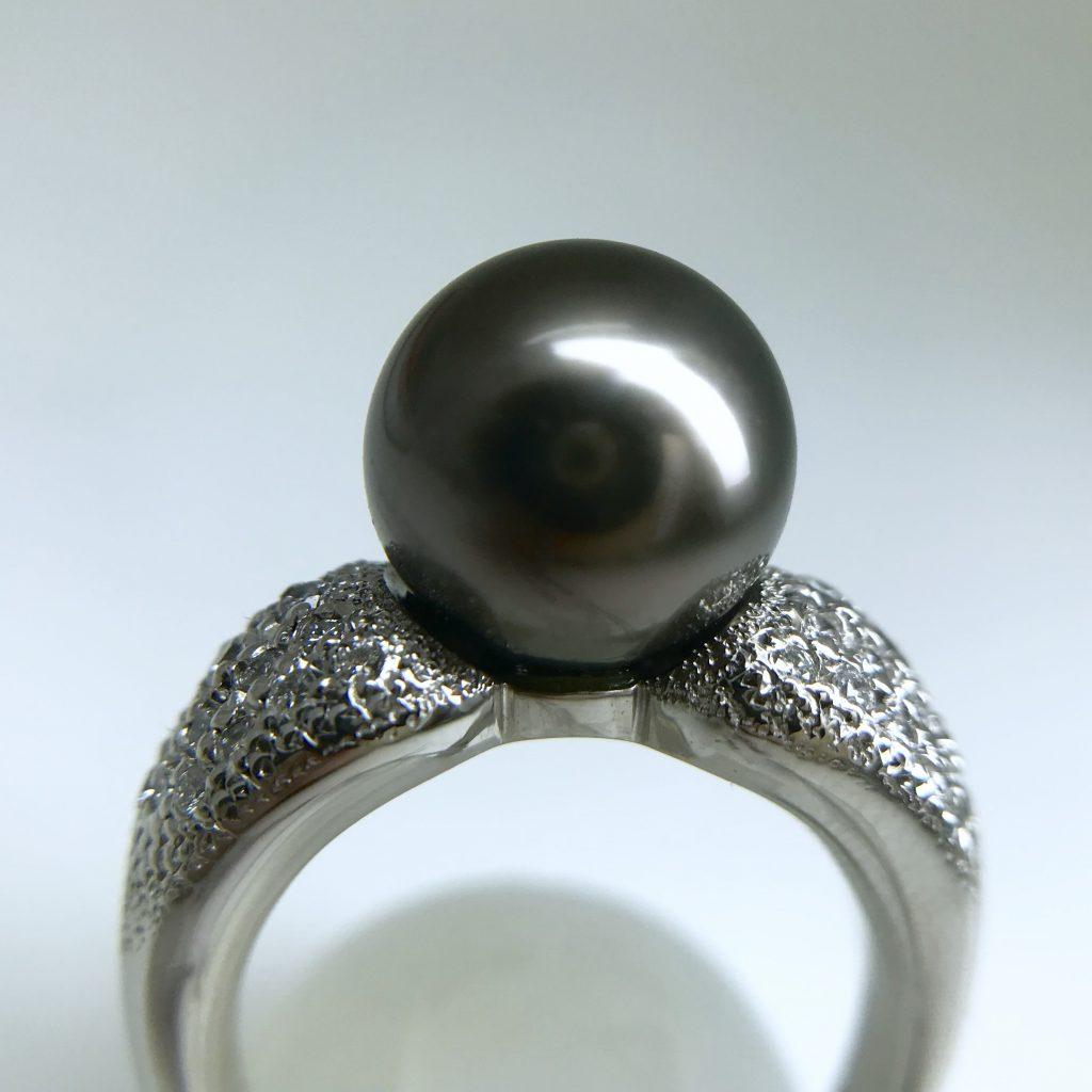 黒蝶真珠リング10.8mm