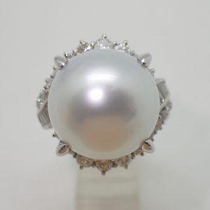 白蝶真珠リング14.52mm