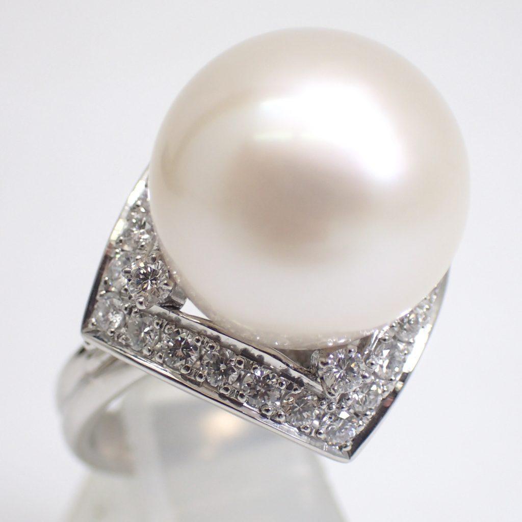 南洋白蝶真珠リング14.5mm