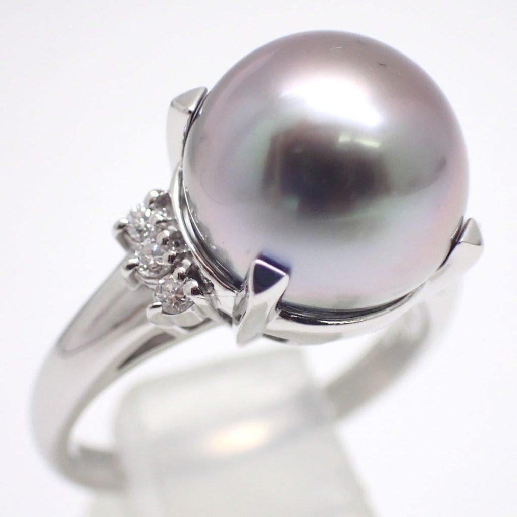 南洋黒蝶真珠リング 11.0mm珠