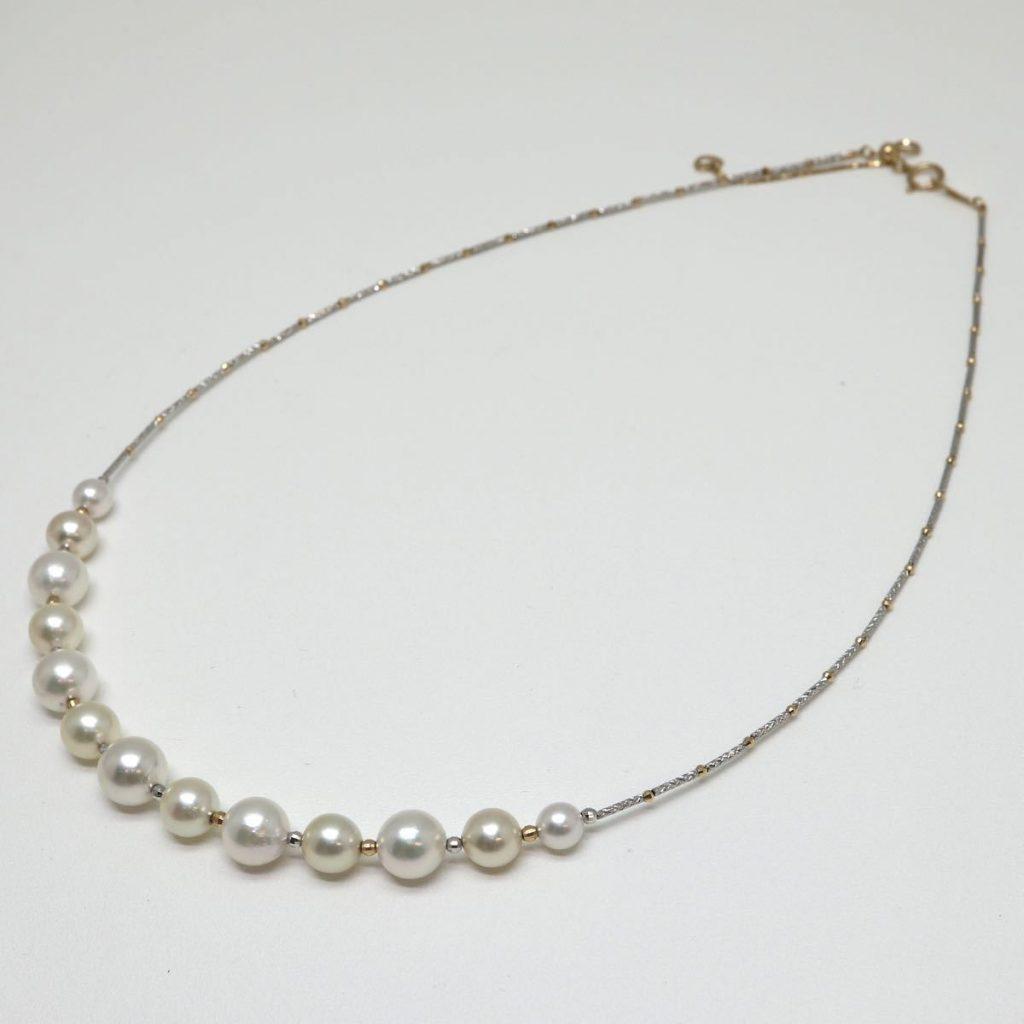 アコヤ本真珠ネックレス 5.5-7.5mm珠