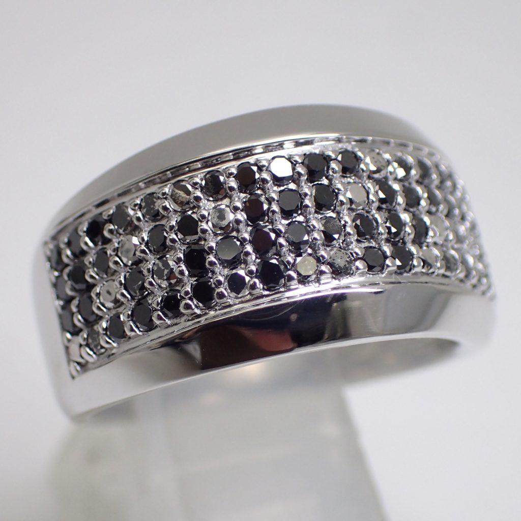 ブラックダイヤモンドリング0.75ct