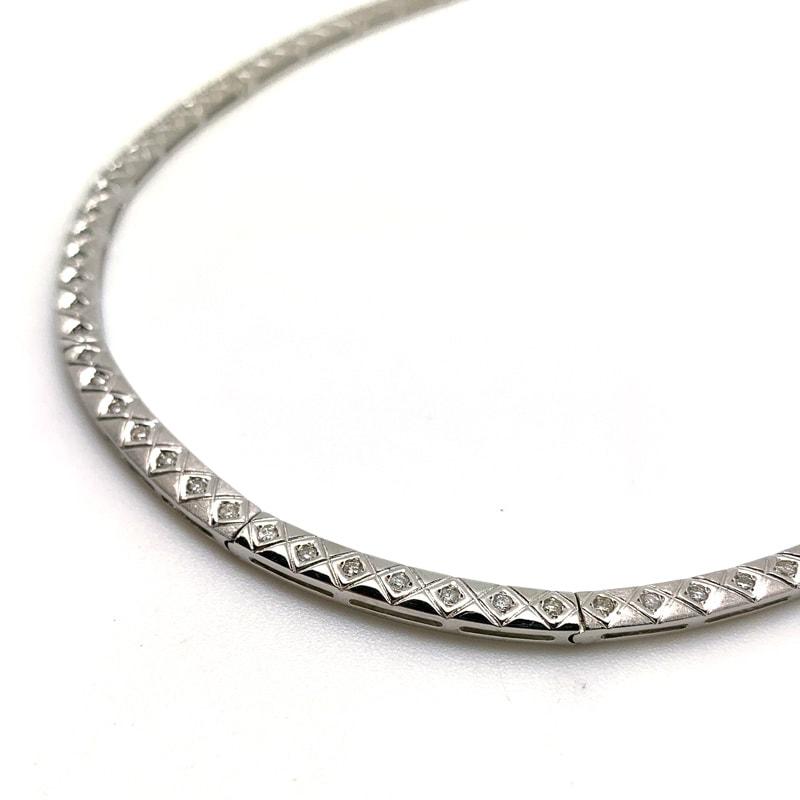 K14WG(ホワイトゴールド)ダイヤモンドネックレス
