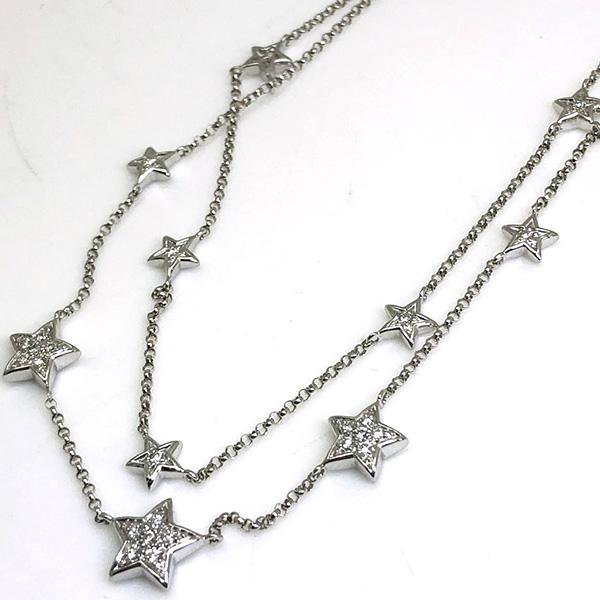 スターデザインダイヤモンドネックレス0.25ct