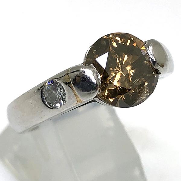 ブラウンダイヤモンドリング2.57ct