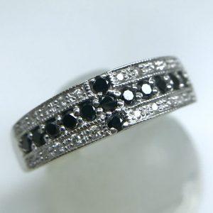 ブラックダイヤモンド0.37ctリング