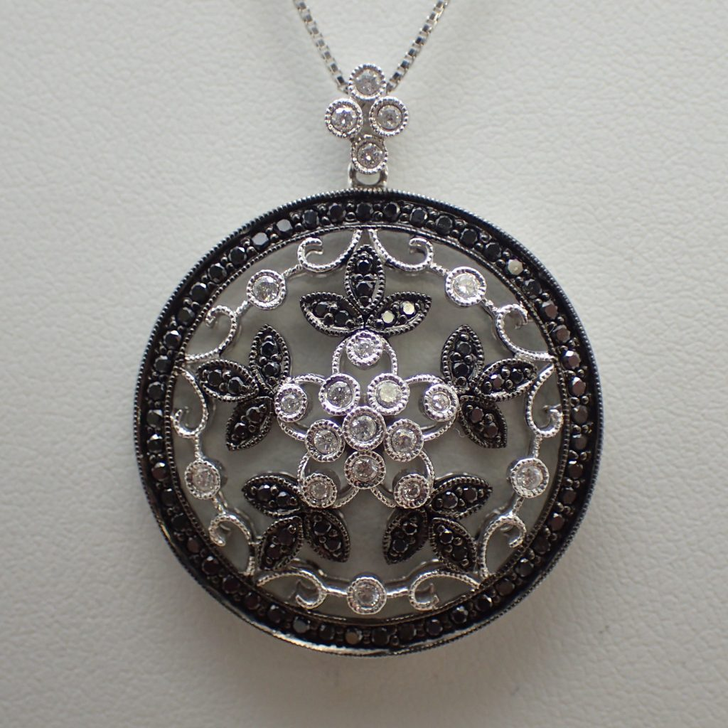 ブラックダイヤモンドペンダント0.85ct