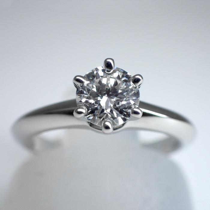 TIFFANY(ティファニー) ソリティアダイヤモンドリング 0.6ct