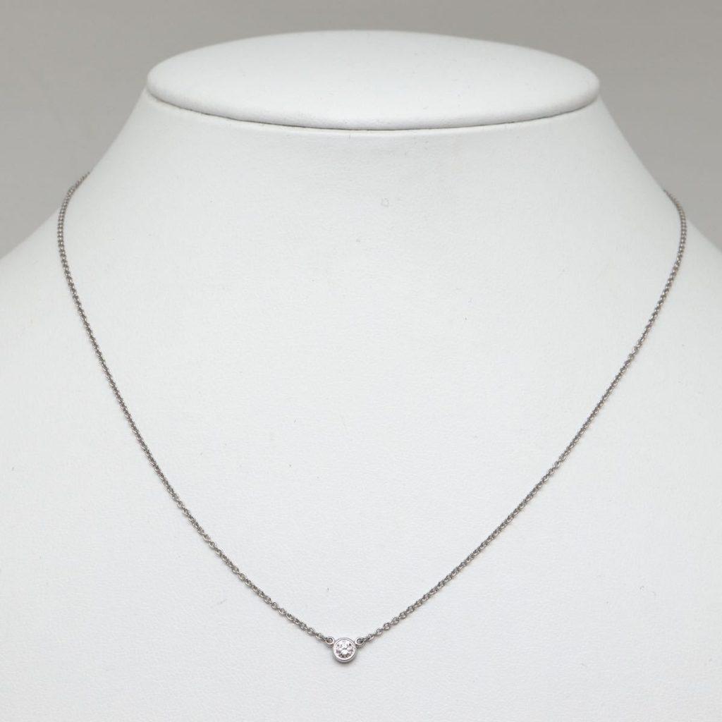 天然ダイヤモンドネックレス 2.4g