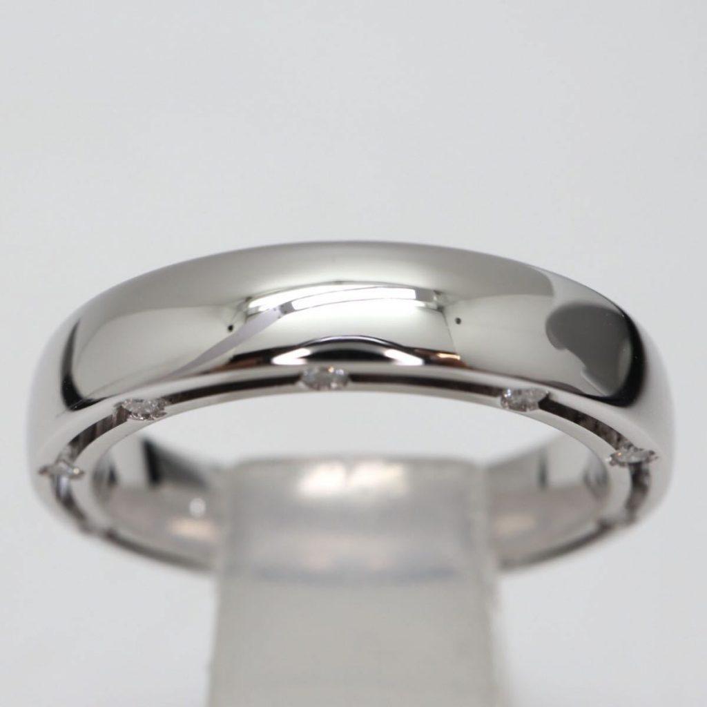 天然ダイヤモンドデザインリング 5.7g