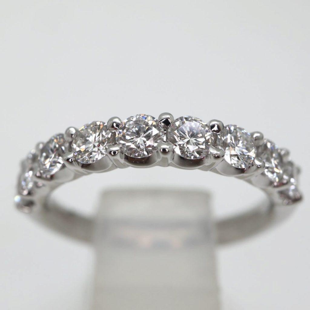天然ダイヤモンドハーフエタニティリング 0.63ct
