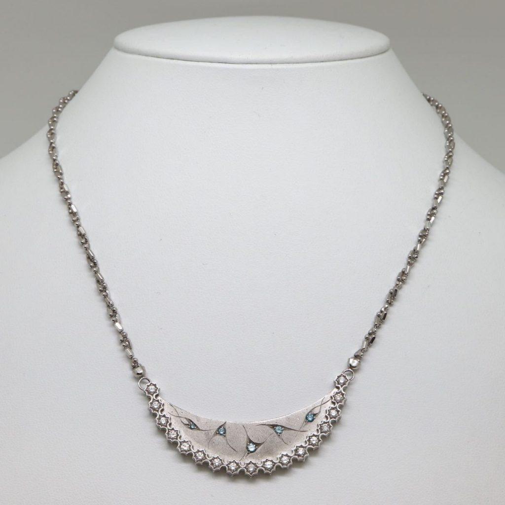 ブルーダイヤモンドネックレス 0.73ct