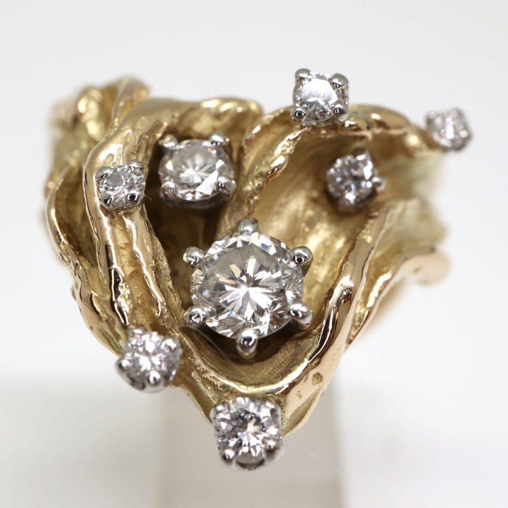 天然ダイヤモンドリング 0.61ct