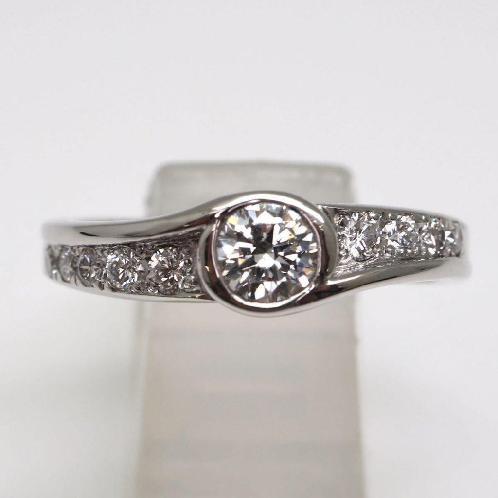 天然ダイヤモンドリング 0.37ct