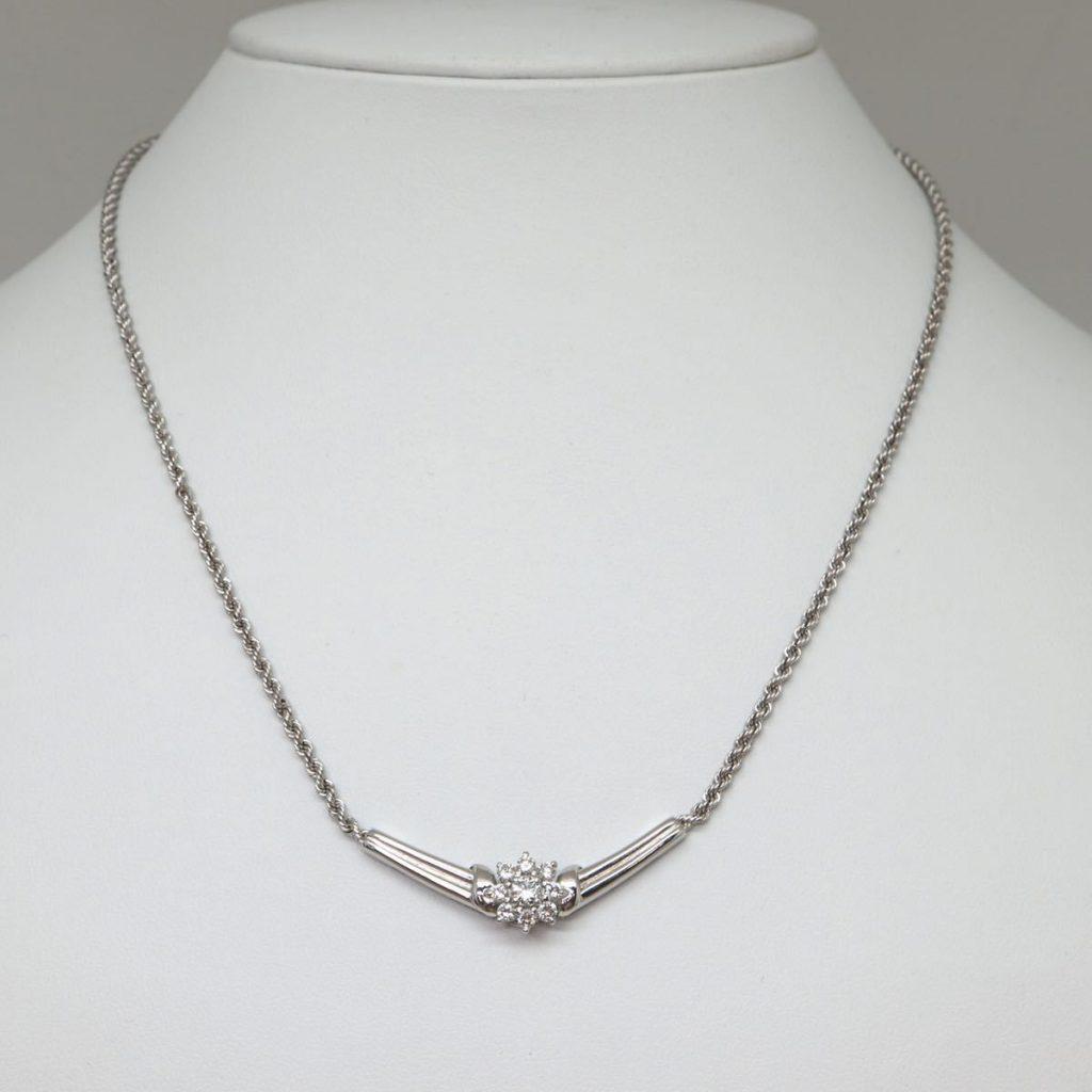 天然ダイヤモンドネックレス 0.47ct