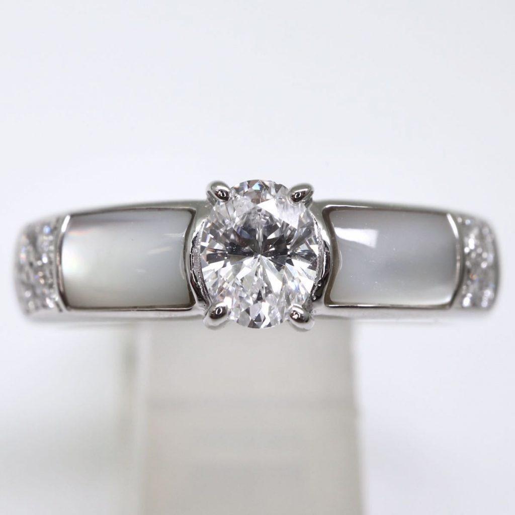 天然ダイヤモンドリング 0.42ct