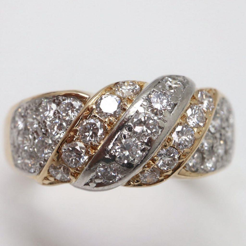 天然ダイヤモンドリング 0.75ct