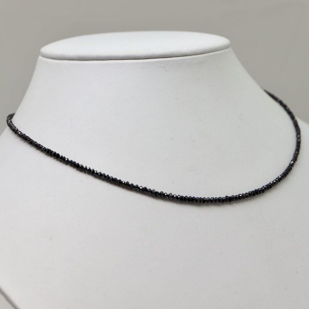 天然ブラックダイヤモンドネックレス12.00ct