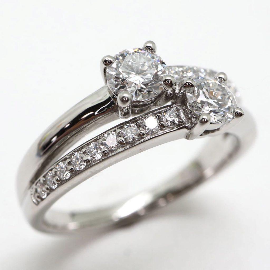天然ダイヤモンドリング0.72ct