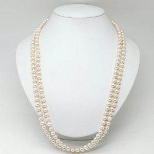 アコヤ本真珠ロングネックレス 6.5-7.0mm珠