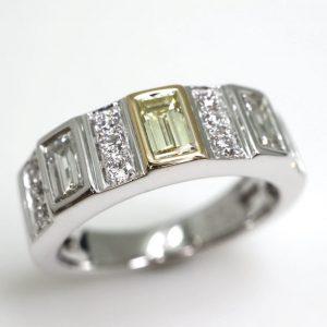 0.21ctイエローダイヤモンドリング
